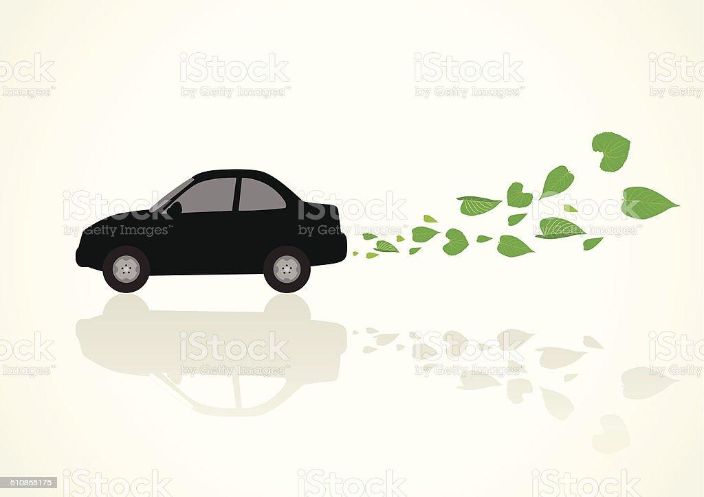 Zero Emission vector art illustration