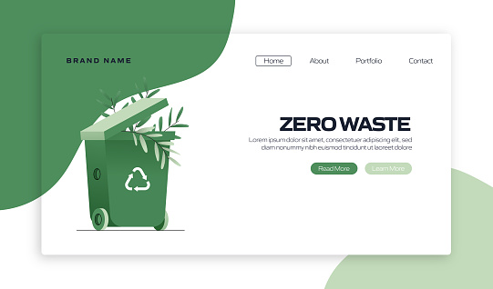 Zero Waste Concept Vector Illustration for Landing Page Template, Website Banner, Advertisement and Marketing Material, Online Advertising, Business Presentation etc.