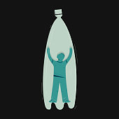 Zero waste, ecology protection vector illustration
