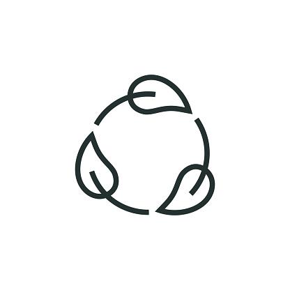 Zero Waste Line Icon