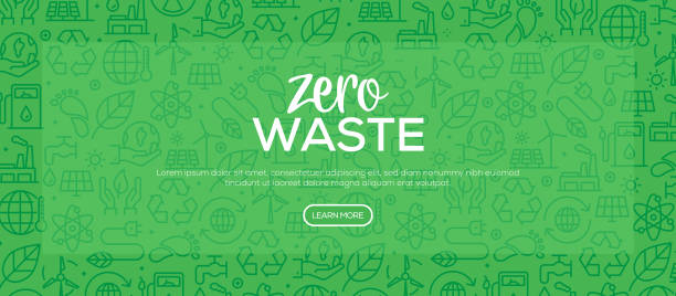 zero waste pattern design - sustainability stock illustrations