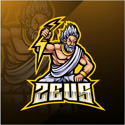 Zeus Sport Mascot Logo Design Stock Illustration ...
