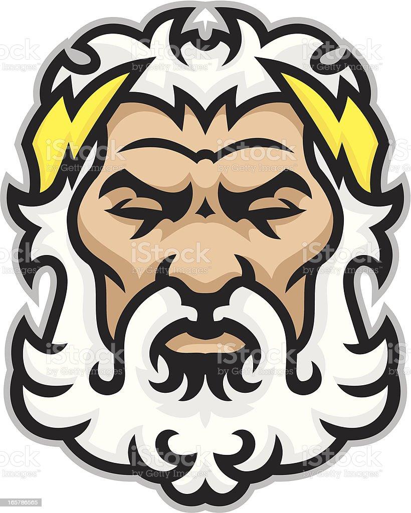 Zeus Titan royalty-free stock vector art
