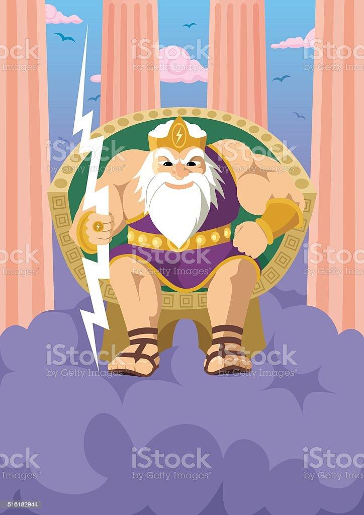 Zeus vector art illustration