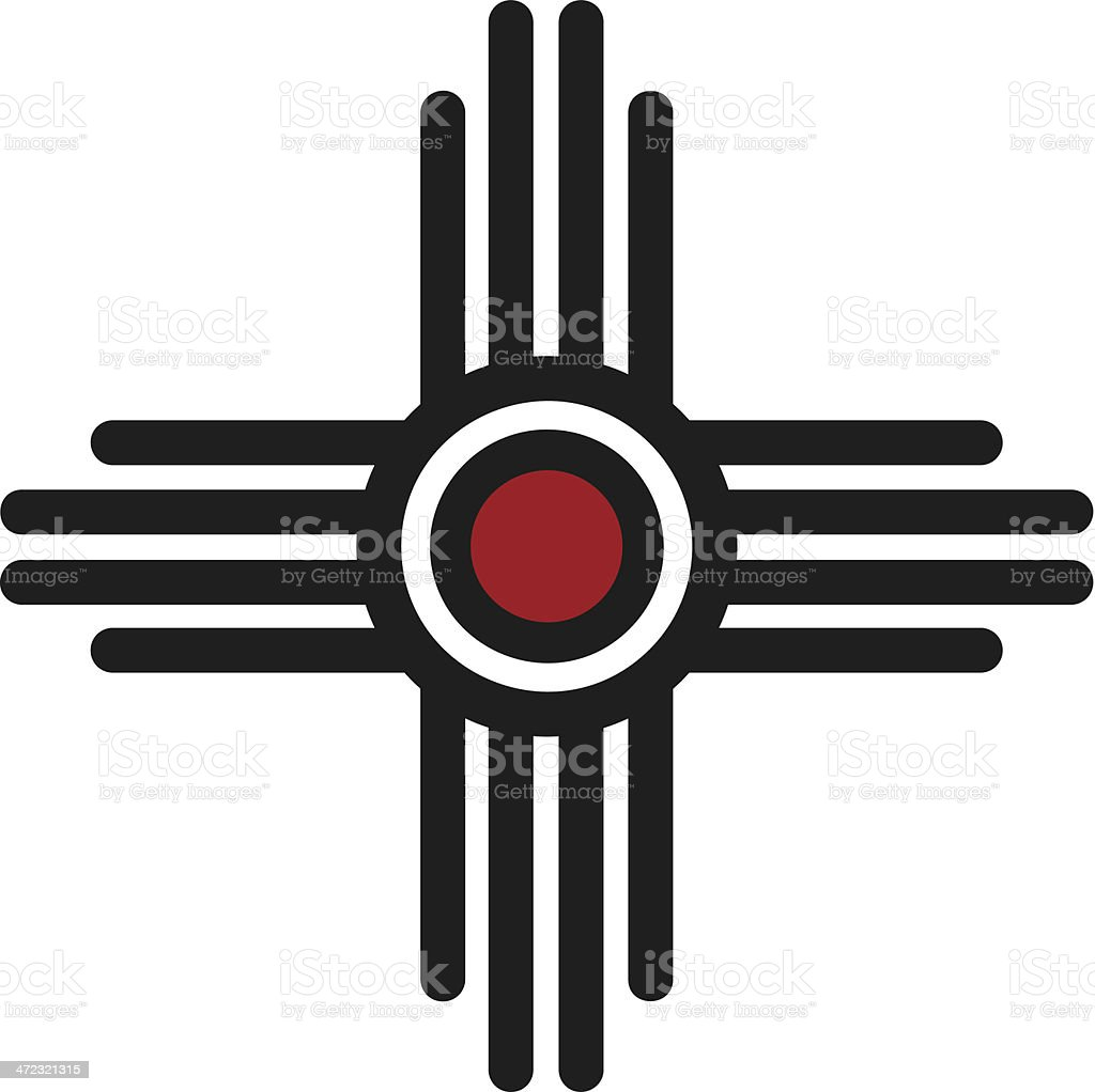 Zia Sun - Pueblo, New Mexico vector art illustration