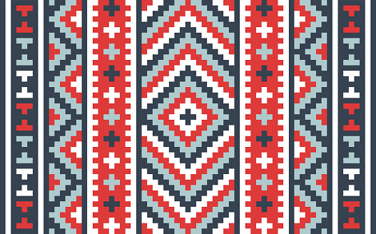 Abstract zig zag pattern block carpet native background.