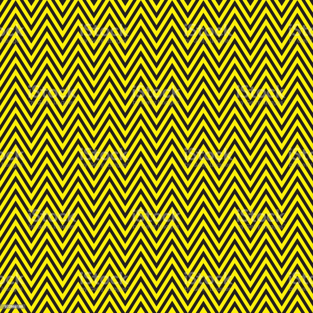 Zigzag black and yellow pattern vector art illustration