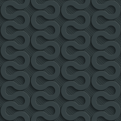 Zig-zag dark seamless vector background with 3D effect. Full editable vector EPS10 tileable wallpaper.