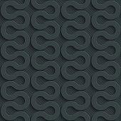 istock Zig-zag dark seamless vector background with 3D effect. 477674040