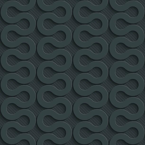 stockillustraties, clipart, cartoons en iconen met zig-zag dark seamless vector background with 3d effect. - stroom activiteit