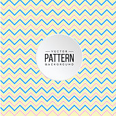 Zigzag Pattern Blue Pink Yellow Line Background Vector Image