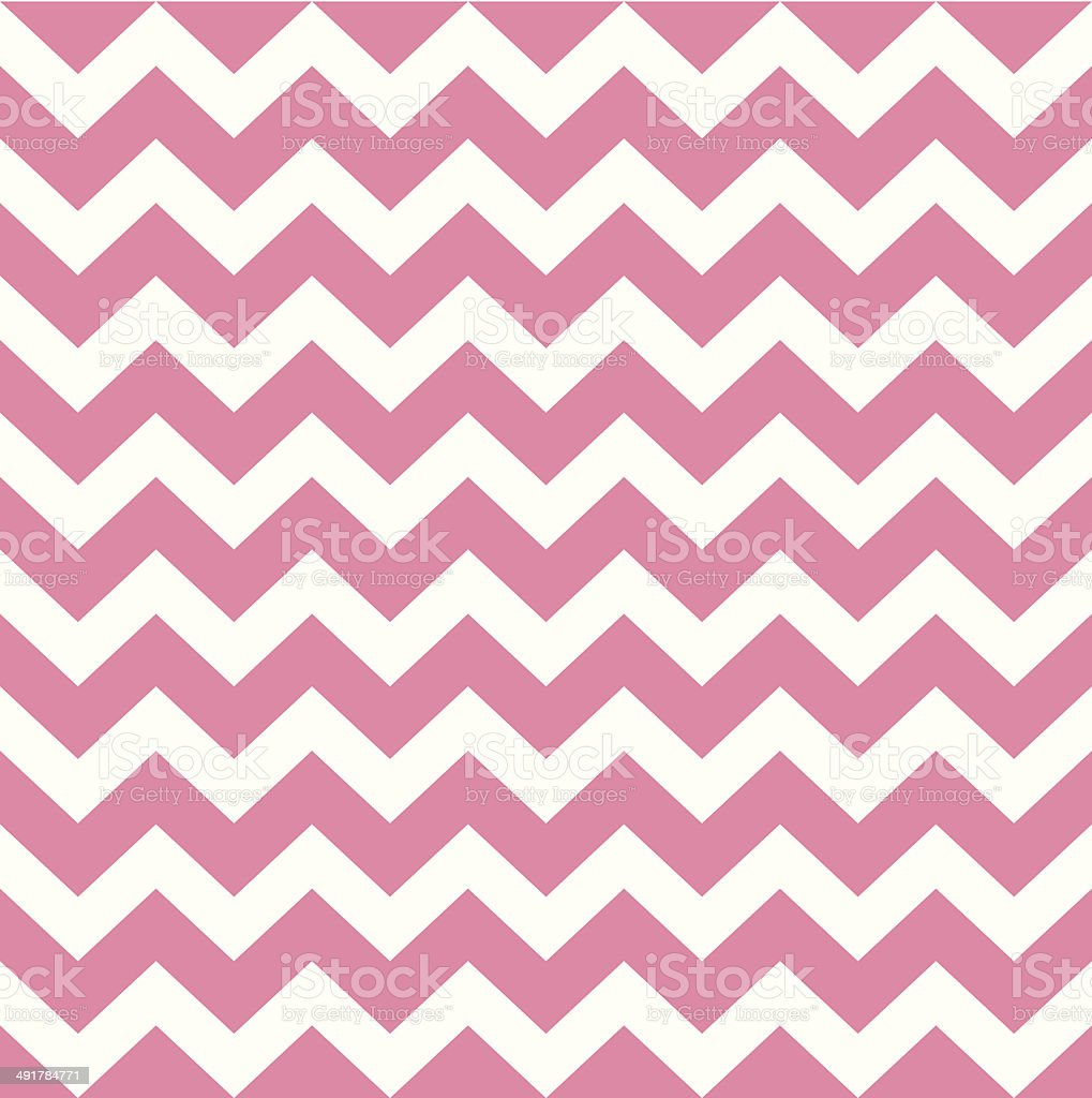 Zigzag pattern in baby pink isolated on white vector art illustration