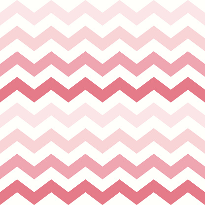 Zigzag pattern in gradient coral pink and white. Seamless rosy chevron vector graphic background image for gift paper, napkin, wallpaper, other modern spring summer everyday fashion fabric print.