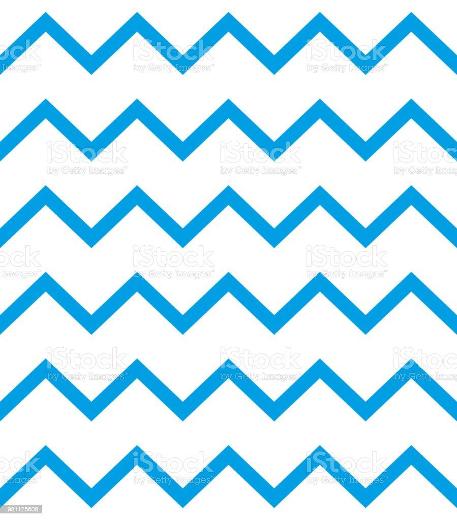 Ilustración de Patrón Zigzag Vector Líneas Azules Sobre Fondo Blanco ...