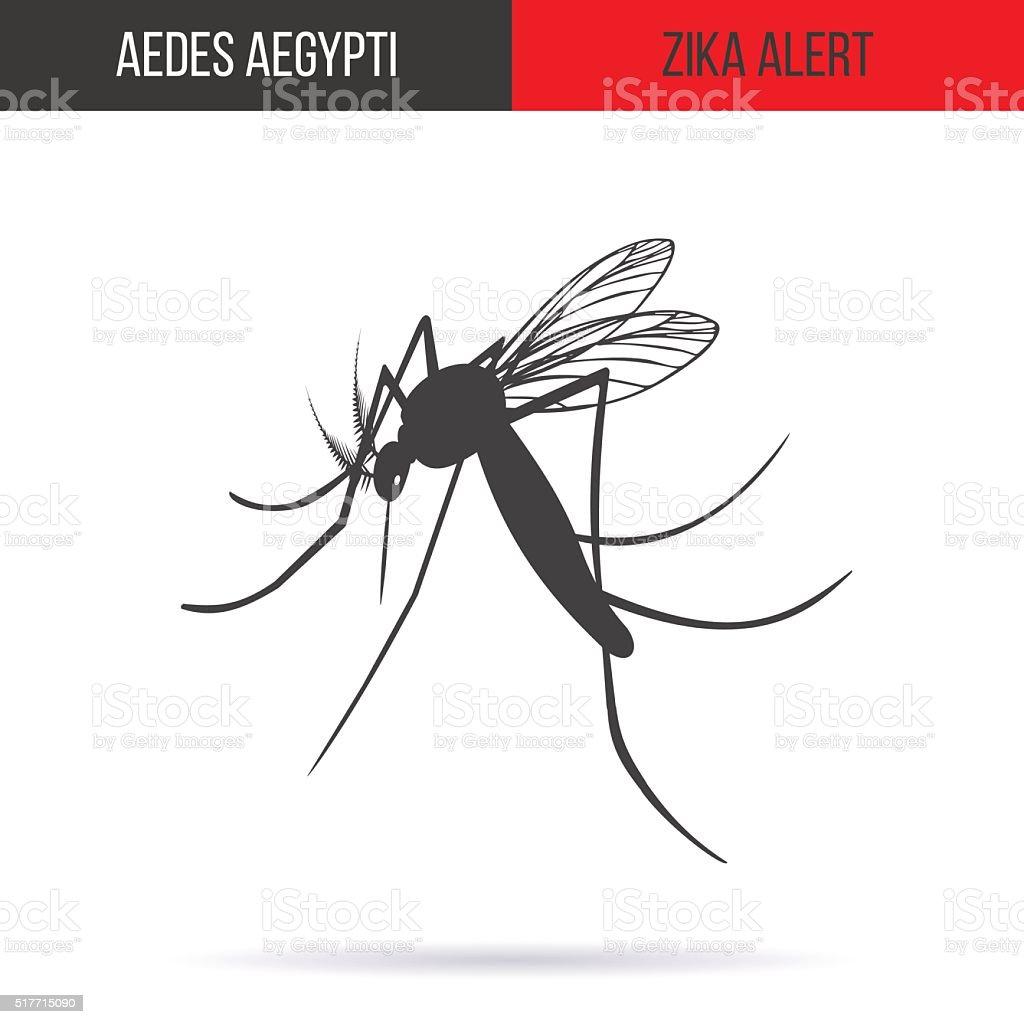Zika virus graphic design elements. vector art illustration
