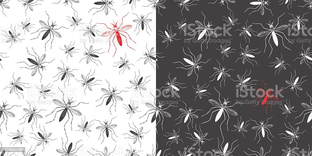 Zika virus graphic design elements. vector art illustration