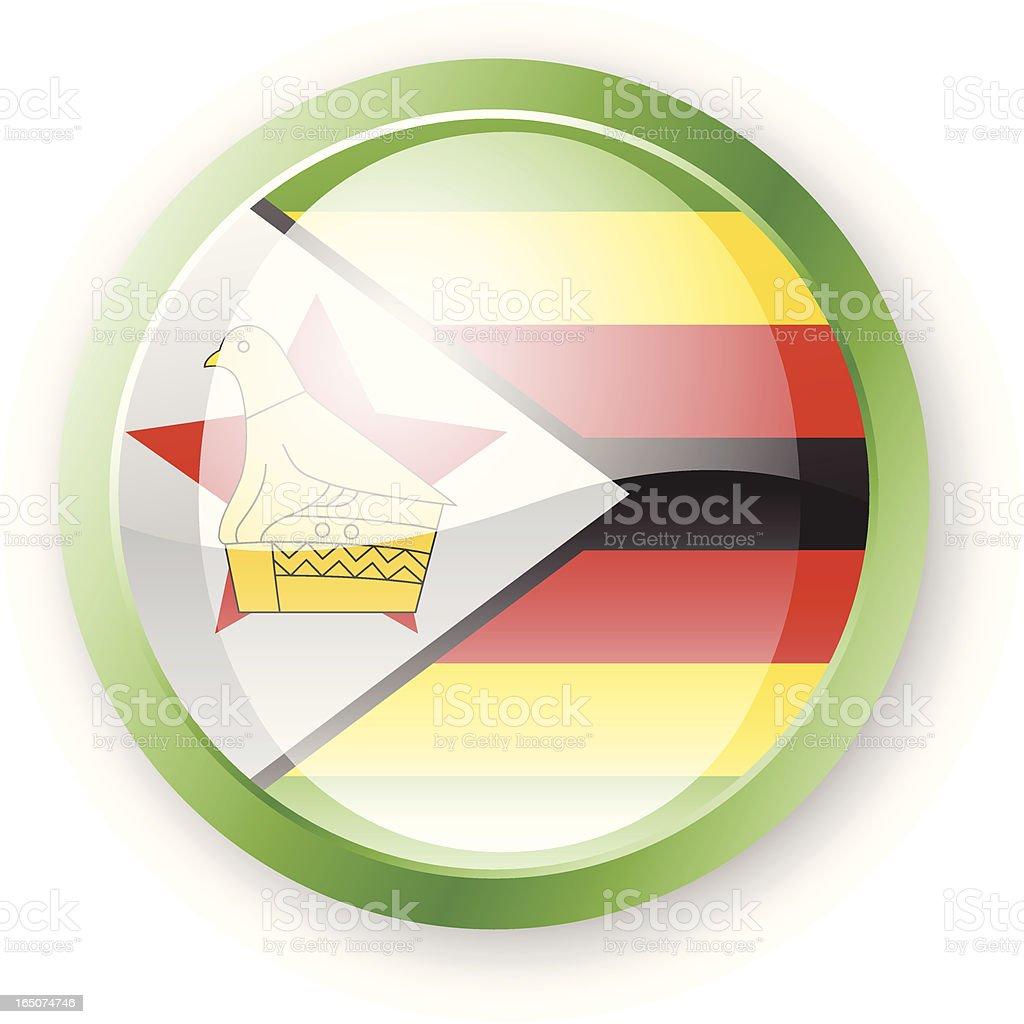 Zimbabwe Flag Icon royalty-free stock vector art
