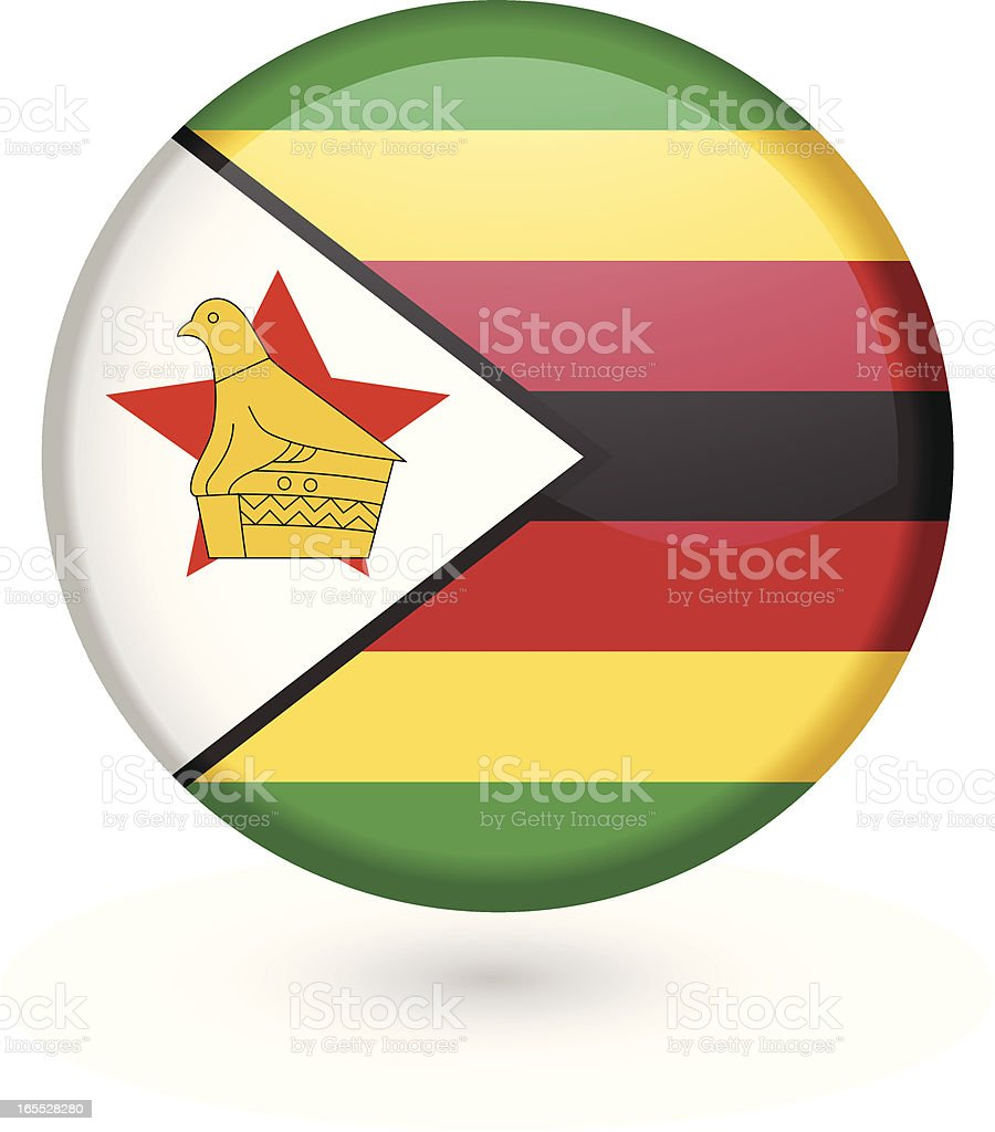 Zimbabwe flag vector button royalty-free zimbabwe flag vector button stock vector art & more images of africa
