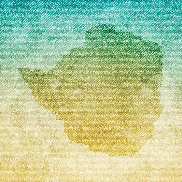 simbabwe weltkarte auf grunge-leinwand hintergrund - salisbury stock-grafiken, -clipart, -cartoons und -symbole
