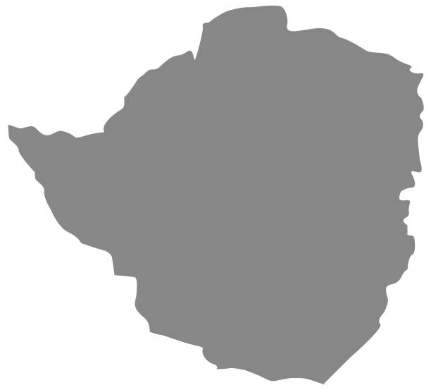 simbabwe karte - salisbury stock-grafiken, -clipart, -cartoons und -symbole