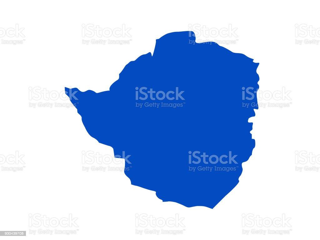 Zimbabwe Map Stock Vector Art More Images of Africa 930439708 iStock