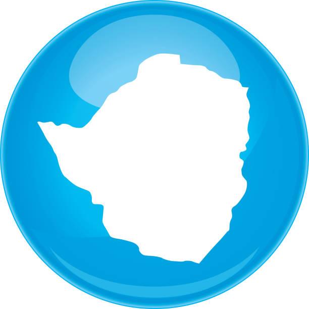 simbabwe-kugel-karte - salisbury stock-grafiken, -clipart, -cartoons und -symbole
