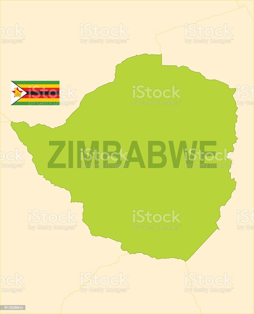 Zimbabwe vector art illustration
