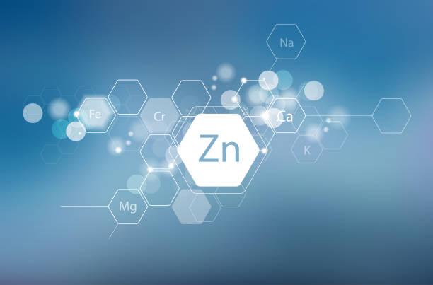 stockillustraties, clipart, cartoons en iconen met zink en andere essentiële mineralen - spoorelement