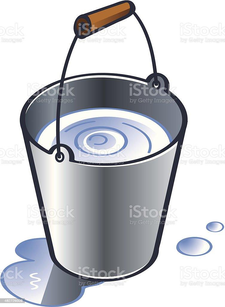 Zinc bucket vector art illustration