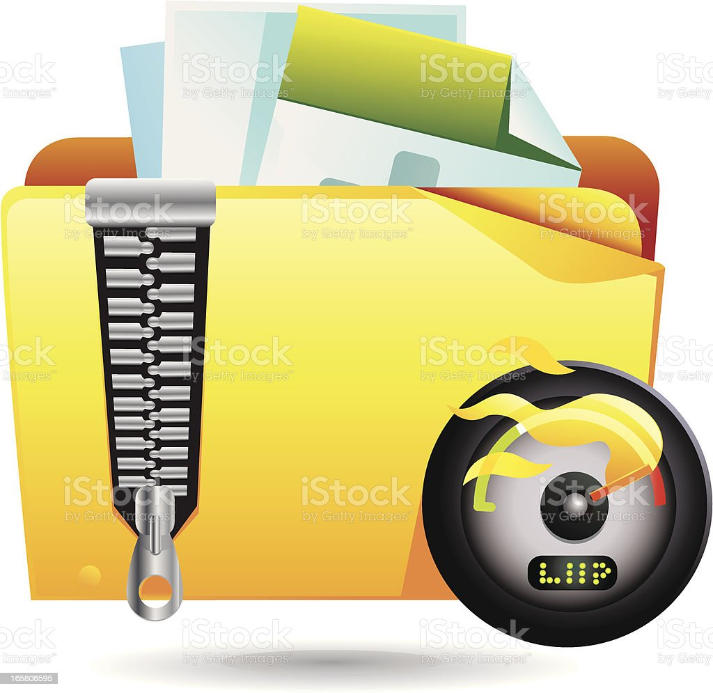 Zip Folder Icon royalty-free zip folder icon stock vector art & more images of archives