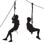 Zip Line Kids Silhouettes