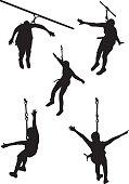 zipline vector silhouette clip art