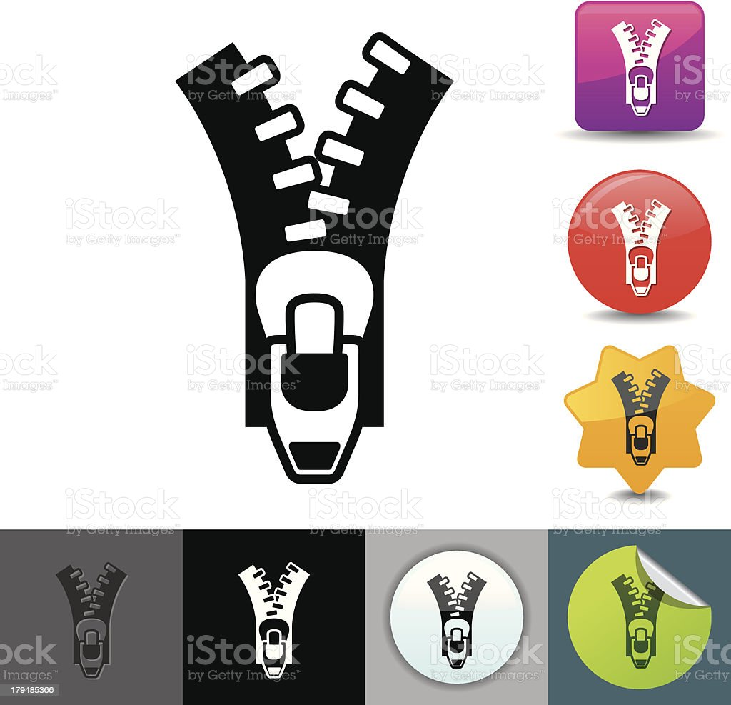 Zipper icon | solicosi series royalty-free stock vector art