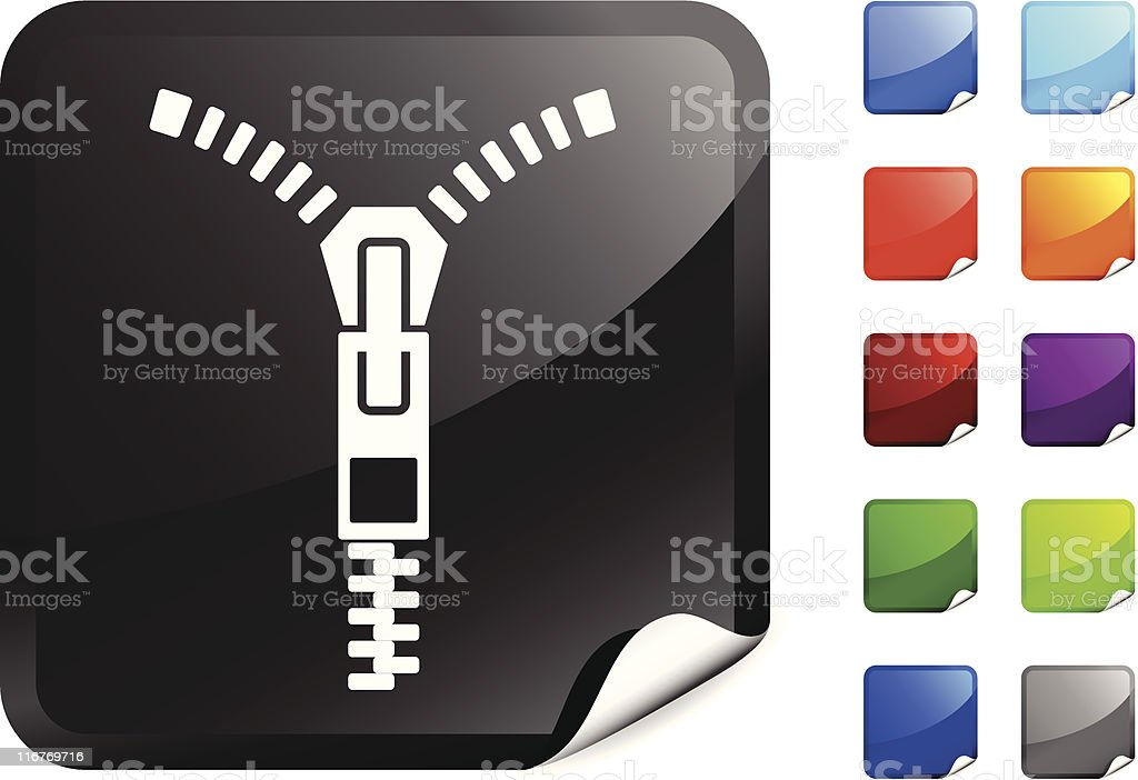 Zipper icon with color options on right hand side. royalty-free zipper icon with color options on right hand side stock vector art & more images of at the edge of