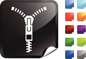 Zipper icon with color options on right hand side.