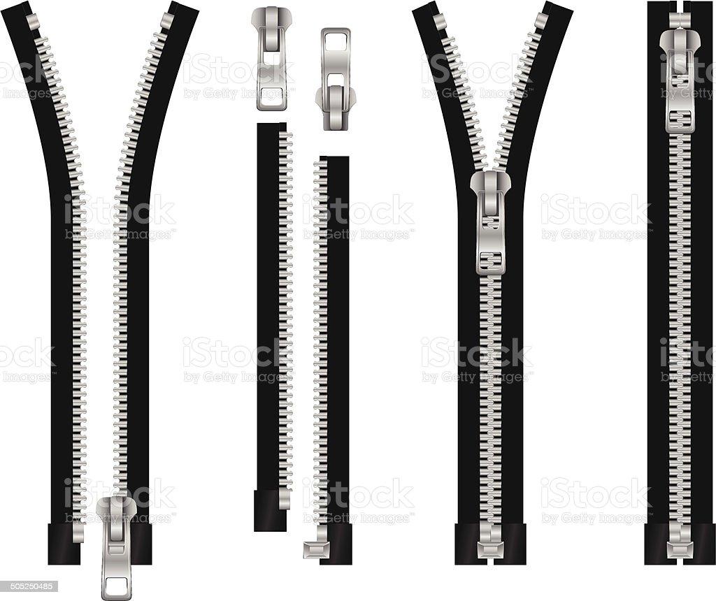 Zipper set eps8 royalty-free stock vector art