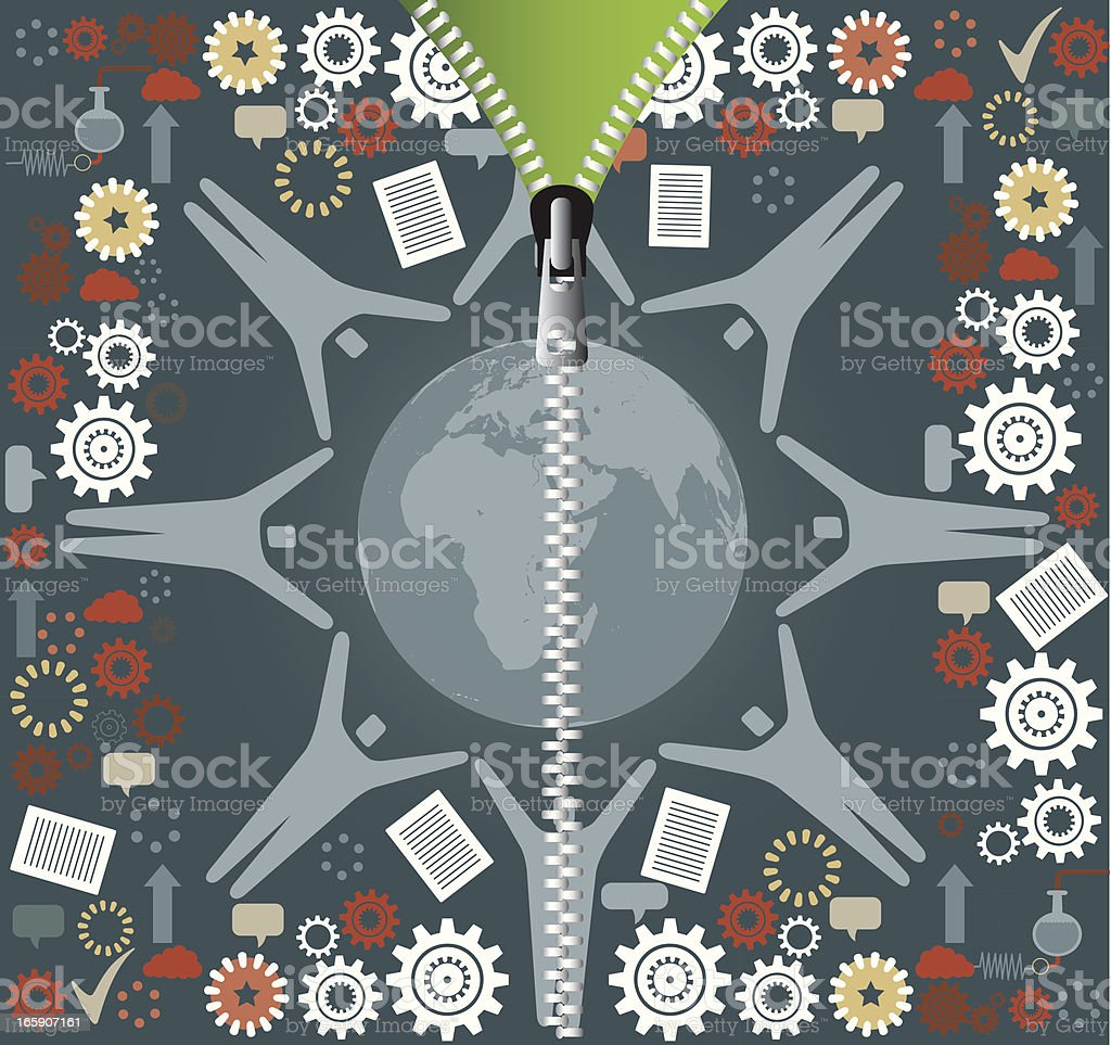 Zipper royalty-free stock vector art