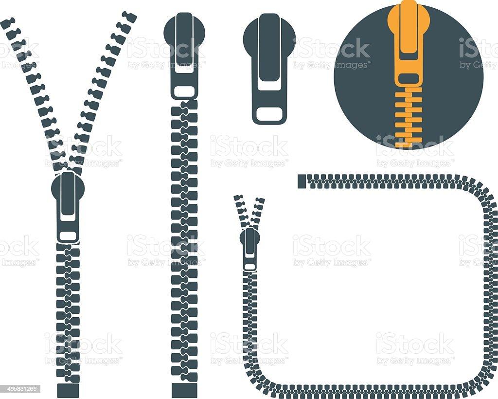 Open Zipper Vector Royalty Free Zipper Cl...