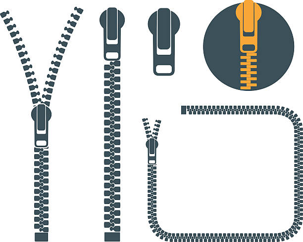 Line Drawing Of Zipper : Royalty free zipper clip art vector images