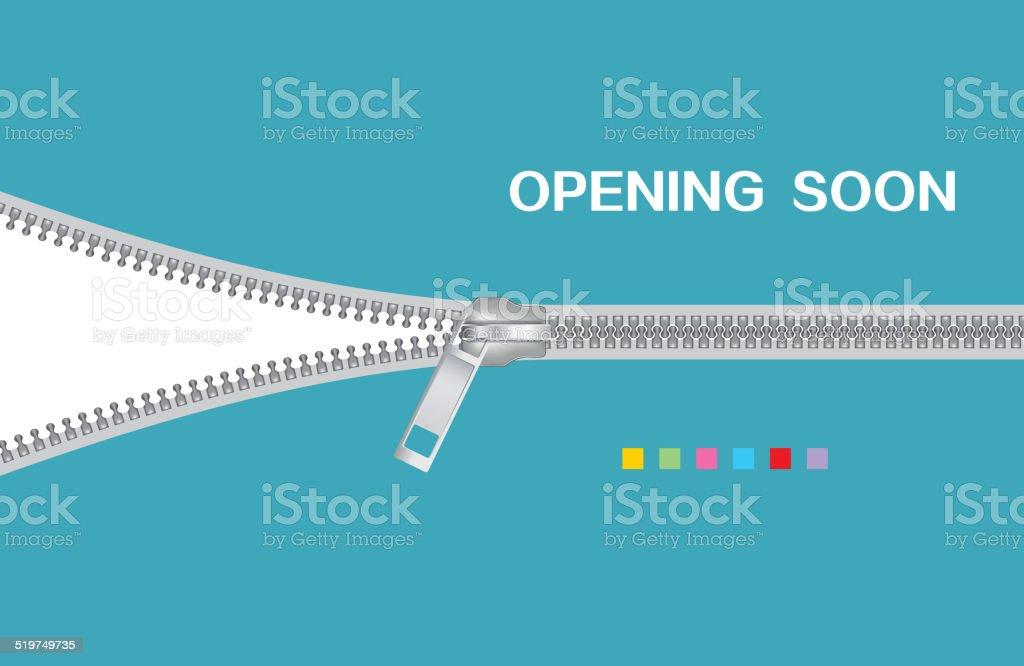 Zipper vector art illustration