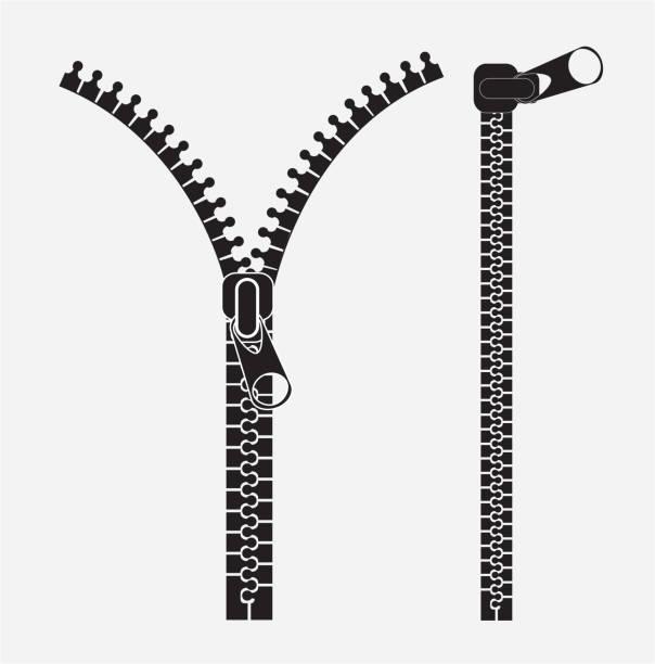 Vector Drawing Lines Zip : ファスナー イラスト素材 istock
