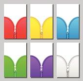Zippers Zip Unzip Colors