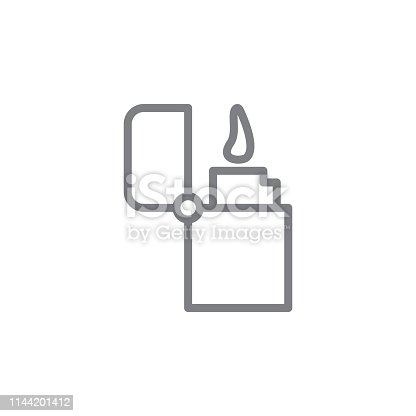 istock zippo outline icon. Elements of smoking activities illustration icon. Signs and symbols can be used for web, logo, mobile app, UI, UX 1144201412