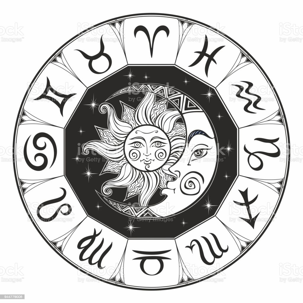 Zodiac Astrological Symbol Horoscope The Sun And The Moon Astrology