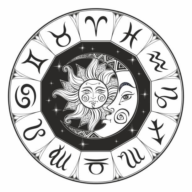 Best Zodiac Wheel Illustrations, Royalty-Free Vector