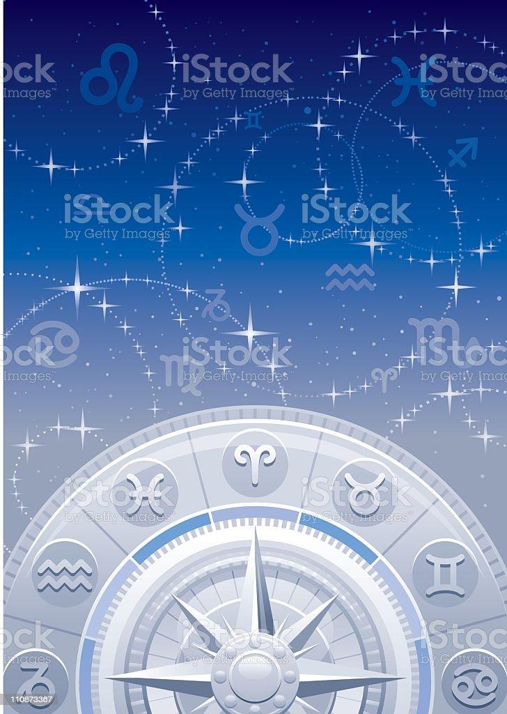 Zodiac background royalty-free stock vector art