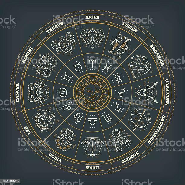 Zodiac circle with astrology symbols vector illustration vector id543199040?b=1&k=6&m=543199040&s=612x612&h=ncx6d8zdyorez3u89jv4u8 seywdvxkf5ukqnvls0hm=
