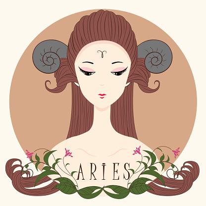 Zodiac girl Aries