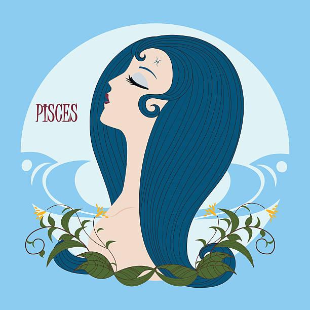 illustrations, cliparts, dessins animés et icônes de zodiac fille pisces - pisces zodiac