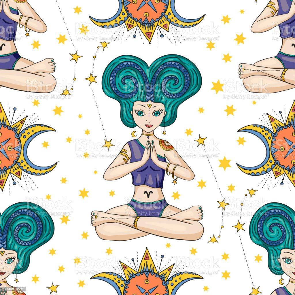 Zodiac Girl Vector Sign Stock Vektor Art Und Mehr Bilder Von